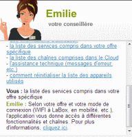 Emilie, assistante virtuelle chez Numericable